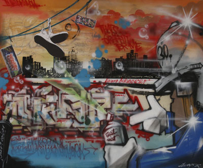 Graffitibild Ausstellung W.-Kempf-Haus 2008