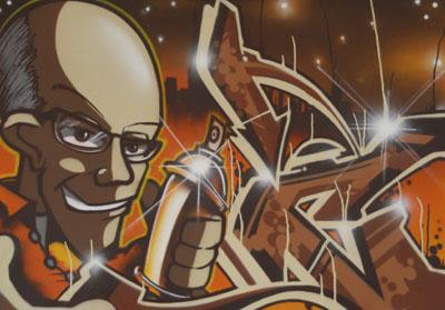 Graffiti Bild zur Ausstellung im W.-Kempf-Haus 2008