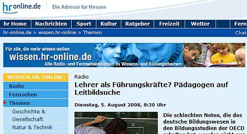 HR2 - Homepage vom 5.8.20008
