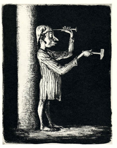 Paul Weber: Der Schlag ins Leere (1934/1951); Quelle: A. Paul Weber - Museum